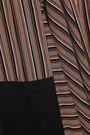 TOME Asymmetric poplin-paneled striped twill skirt
