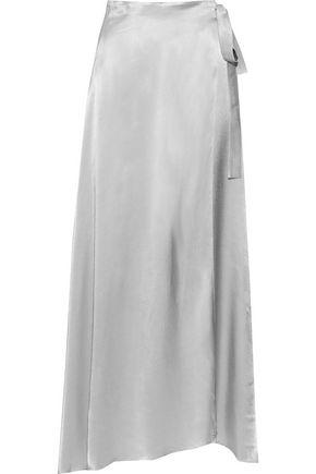 LES HÉROÏNES by VANESSA COCCHIARO The Emmeline metallic satin maxi wrap skirt