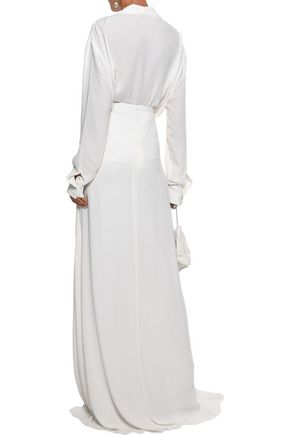 LES HÉROÏNES by VANESSA COCCHIARO The Malala split-front washed-crepe maxi skirt