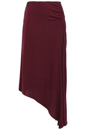 LES HÉROÏNES by VANESSA COCCHIARO J.K. asymmetric gathered crepe midi skirt