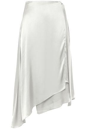 LES HÉROÏNES by VANESSA COCCHIARO Crepe-satin midi wrap skirt