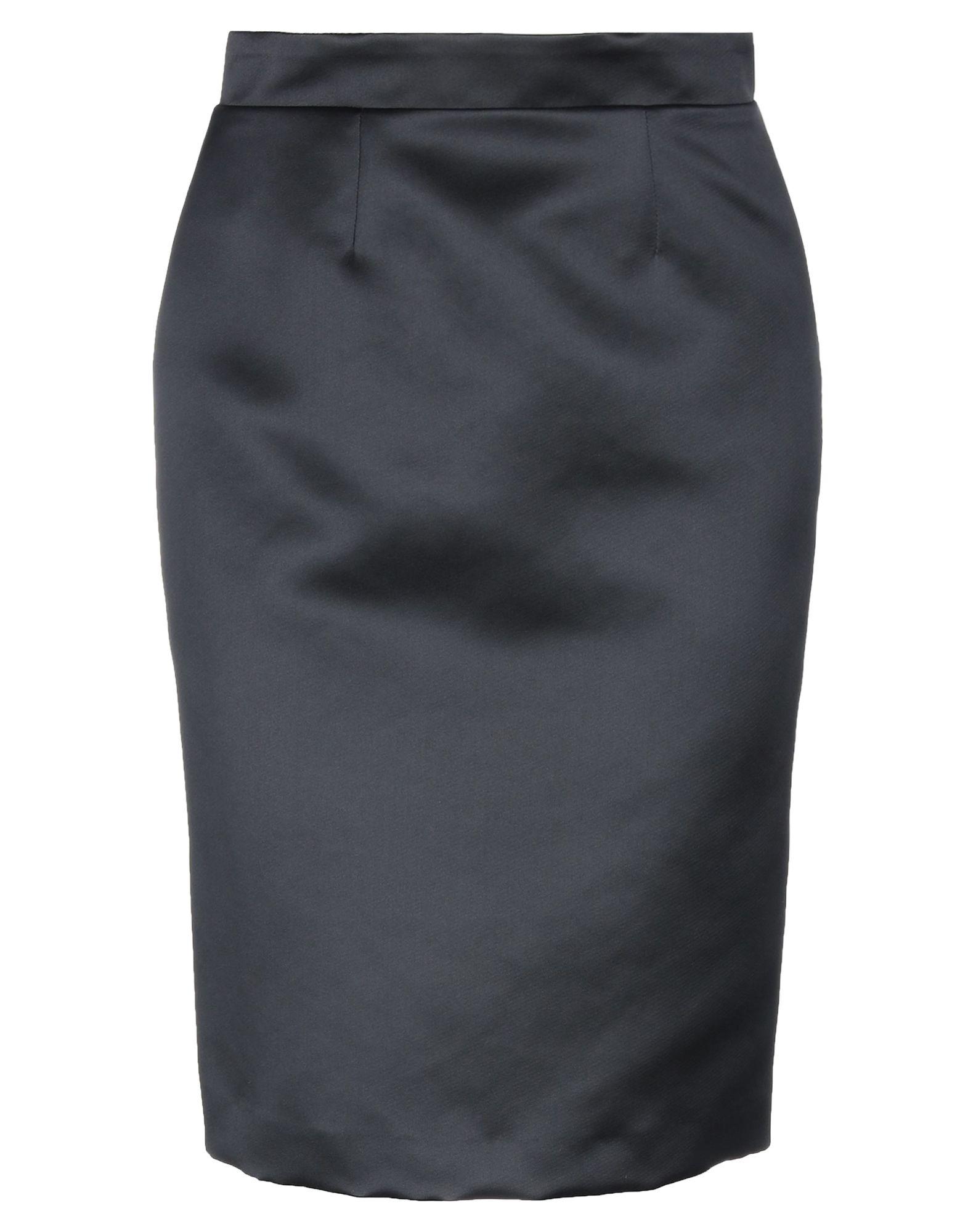 《セール開催中》LUCILLE レディース ひざ丈スカート ブラック 42 ポリエステル 100%