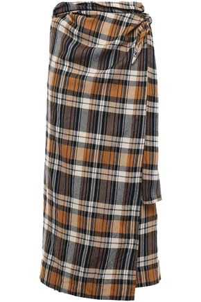 FORTE_FORTE Wool midi wrap skirt