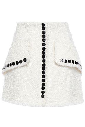 ALEXANDER WANG Button-embellished tweed mini skirt