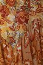 ANNA SUI Asymmetric printed cotton and silk-blend skirt