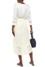 ANNA SUI Asymmetric broderie anglaise cotton skirt