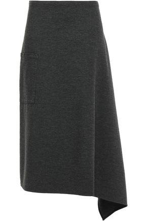 TIBI Origami asymmetric stretch-jersey midi skirt