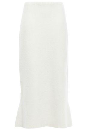 JIL SANDER Bouclé-knit cashmere-blend midi skirt