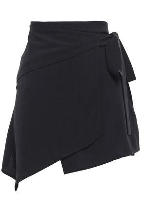 DODO BAR OR Wrap-effect crepe mini skirt