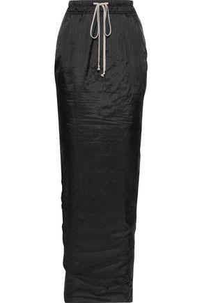 RICK OWENS Pillar split-back crinkled-shell maxi skirt