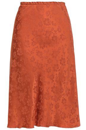 ALEXACHUNG Satin-jacquard skirt