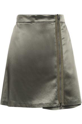 BRUNELLO CUCINELLI Cotton-blend sateen mini skirt
