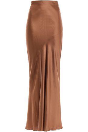 BRUNELLO CUCINELLI Satin maxi skirt