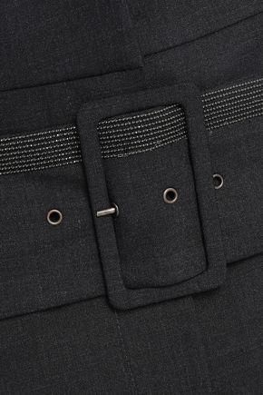 BRUNELLO CUCINELLI ビーズ&ボタン付き ウール混 ミディスカート