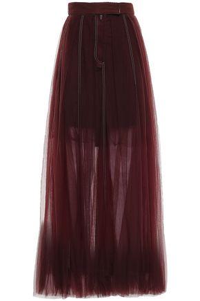 BRUNELLO CUCINELLI Pleated tulle maxi skirt