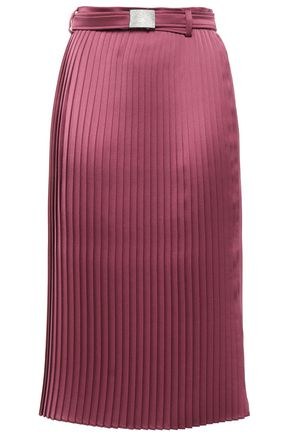BRUNELLO CUCINELLI Pleated satin skirt