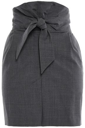 BRUNELLO CUCINELLI Knotted wool-blend mini skirt