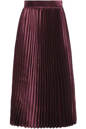 GOEN.J Pleated crepe midi skirt