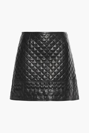 REDValentino Quilted leather mini skirt