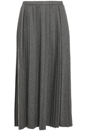 REDValentino Pleated twill midi skirt