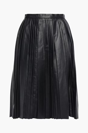 REDValentino Pleated leather skirt