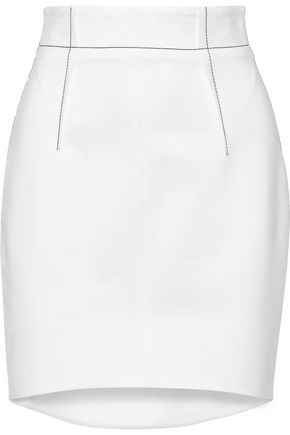 CUSHNIE Crepe mini skirt