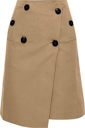 GOEN.J Cotton-blend gabardine wrap skirt
