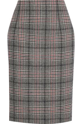 IRIS & INK Kaira checked jacquard skirt