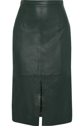 IRIS & INK Malena leather pencil skirt