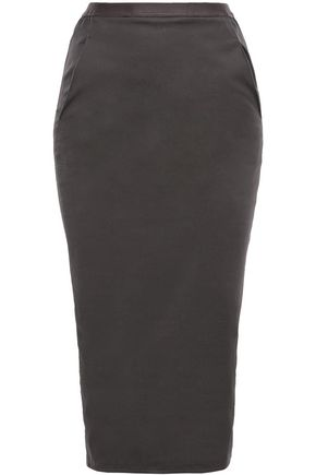 RICK OWENS Ruched stretch-cotton jersey skirt