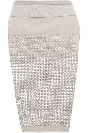 RICK OWENS Loin split-side sequin-embellished cotton-jersey skirt