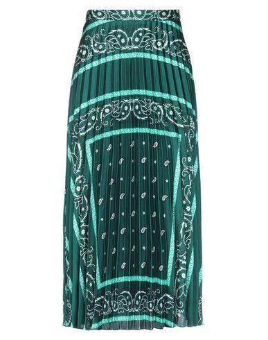 Купить Юбку длиной 3/4 изумрудно-зеленого цвета