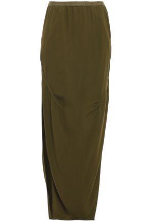 RICK OWENS Dirt split-side jersey maxi skirt