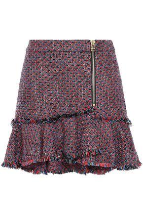 VERONICA BEARD Madra ruffled metallic tweed mini skirt