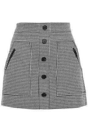 VERONICA BEARD Monroe button-embellished cotton-blend mini skirt