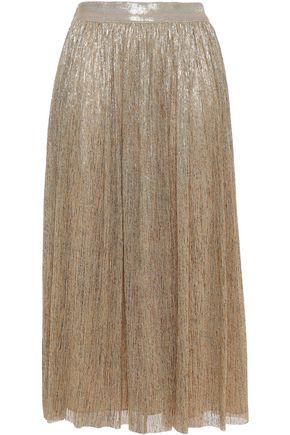 ALICE + OLIVIA Melda plissé stretch-jersey midi skirt