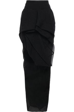 RICK OWENS Embossed silk-blend organza maxi skirt