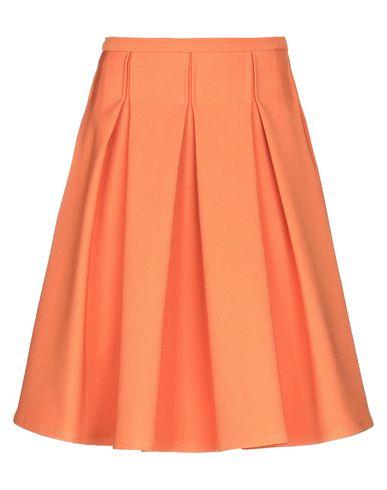 Купить Юбку до колена от VIRGINIA BIZZI оранжевого цвета