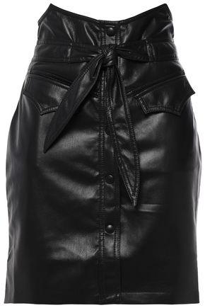 NANUSHKA Reese belted vegan leather mini skirt