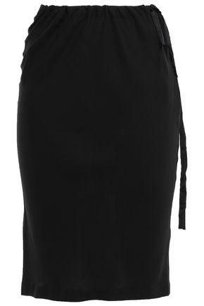 ANN DEMEULEMEESTER Gathered silk-georgette skirt