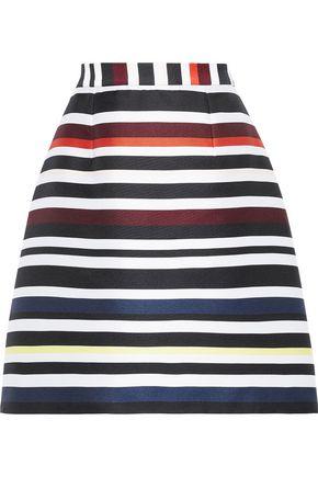 NOVIS The Wendell striped duchesse-satin mini skirt