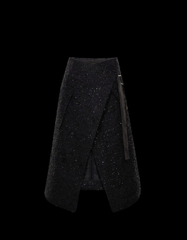 SKIRT Black 2 Moncler 1952 Valextra Woman