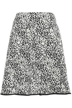 DKNY Leopard-print jacquard mini skirt