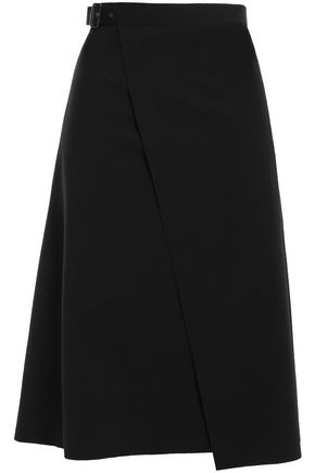 THEORY Stretch-crepe wrap skirt