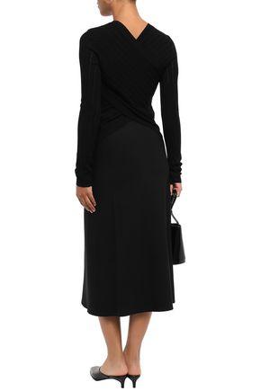 THEORY Ponte midi skirt