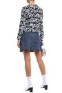 LOVE MOSCHINO Flared denim mini skirt
