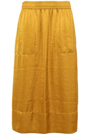 THEORY Satin midi skirt