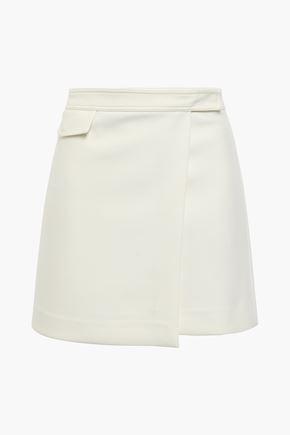 THEORY Twill mini wrap skirt