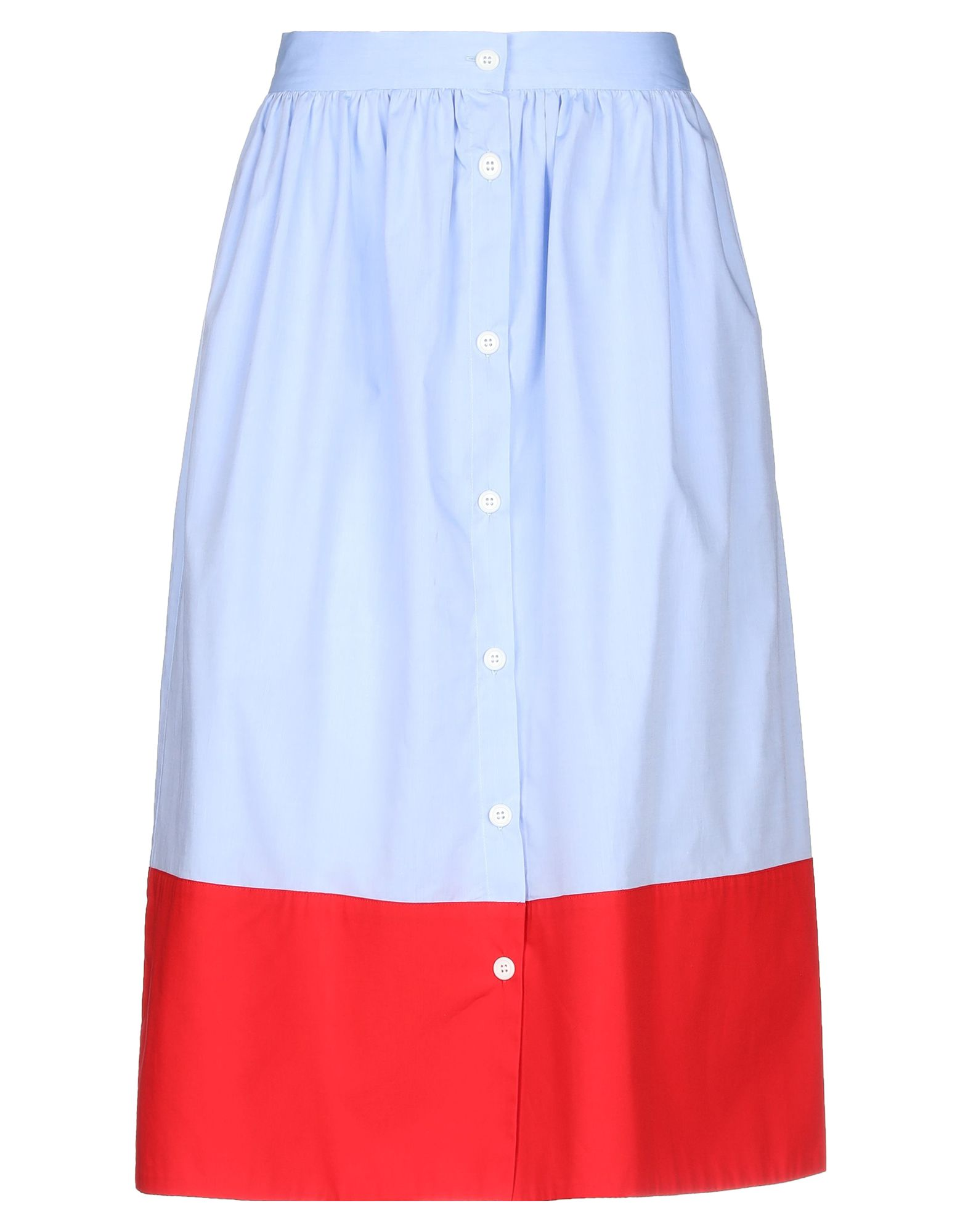 《セール開催中》MDS STRIPES レディース 7分丈スカート スカイブルー 2 コットン 100%