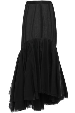 BROCK COLLECTION Paneled cotton and silk-blend midi skirt